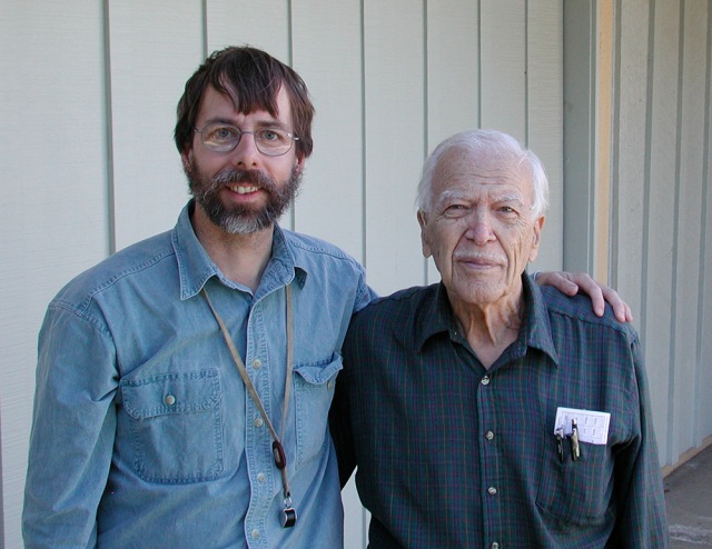 Kenneth Cooper (right) and me.  Riverside, California, January 2005.